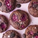 Double Chocolate and Raspberry Cookies