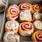 Jam Donut Cinnamon Rolls (vegan)