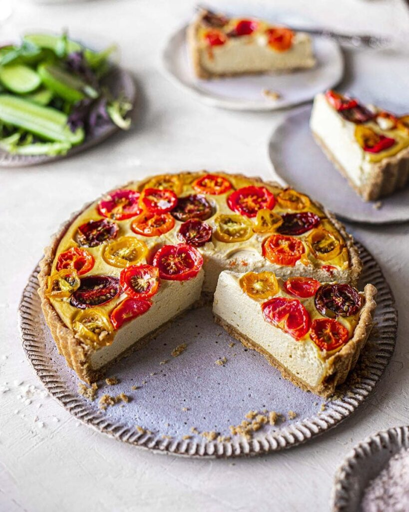 Easy Vegan Tomato Quiche Rainbow Nourishments