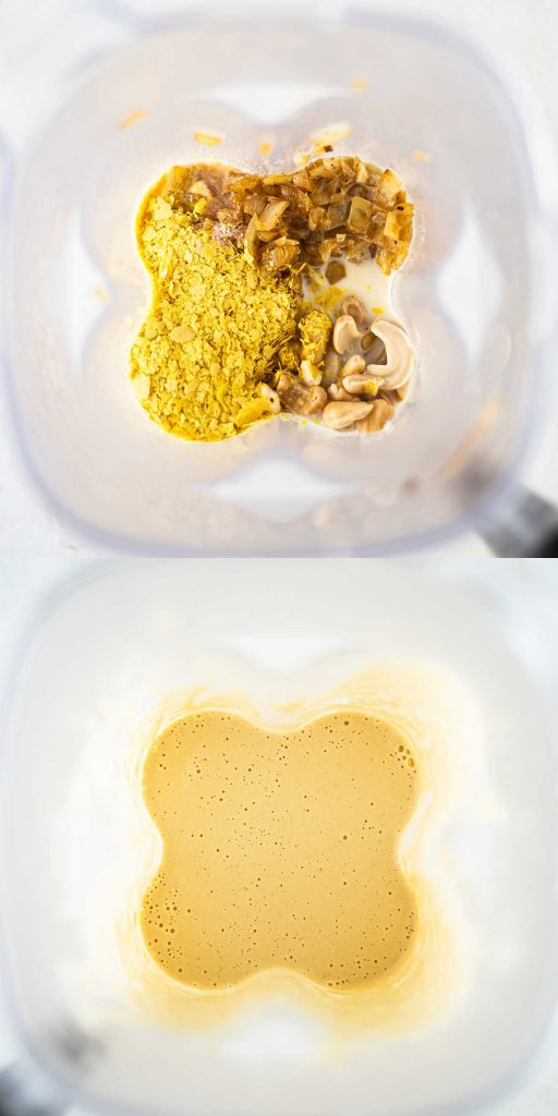 Easy vegan alfredo pasta sauce in blender